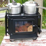 Double Pots on Wide Little Honey Woodburner